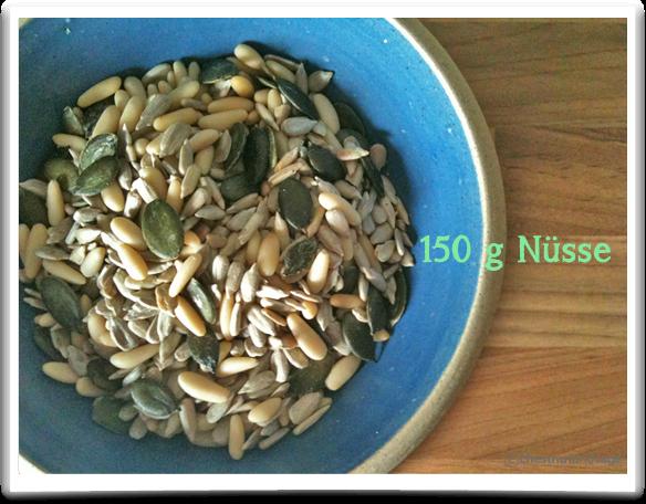 150g Nüsse