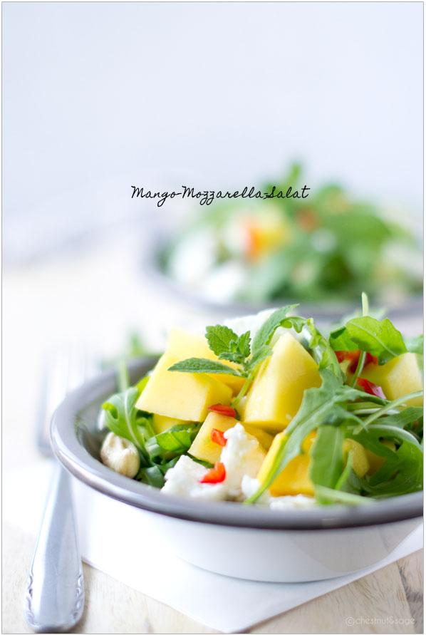 Mango-Mozarella-Salat | chestnutandsage.de