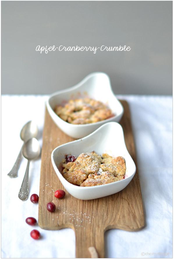 Apfel-Cranberry-Crumble | chestnutandsage.de