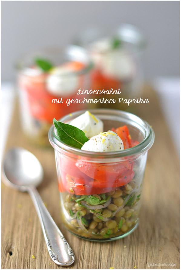 Linsen-Paprika-Salat | chestnutandsage.de