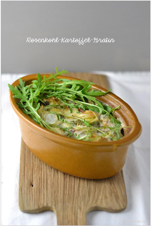 Rosenkohl-Kartoffel-Gratin | chestnutandsage.de