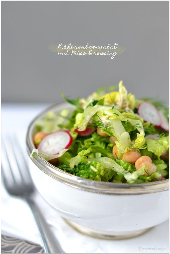 Salat mit Miso-Dressing | chestnutandsage.de