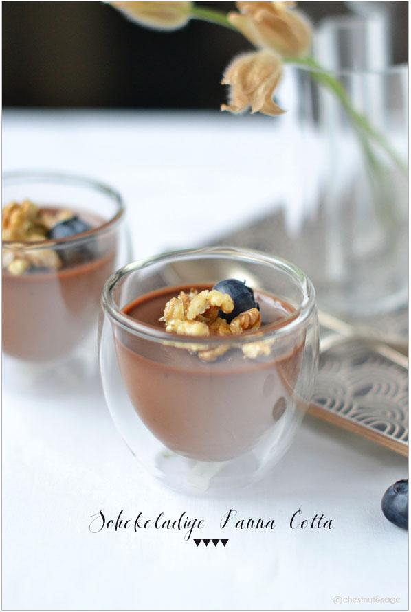 Schokoladige Panna Cotta | chestnutandsage.de