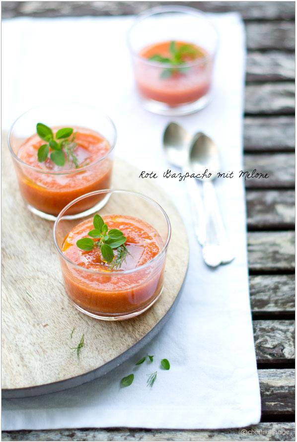 Rote Gazpacho mit Melone | chestnutandsage.de