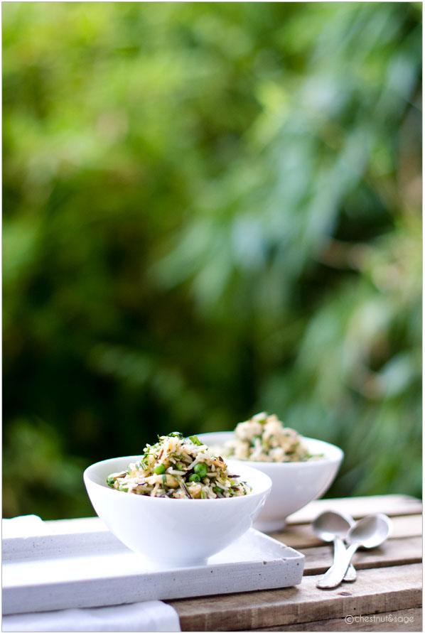 Rice with Peas Coriander Dill and Lemon | chestnutandsage.de