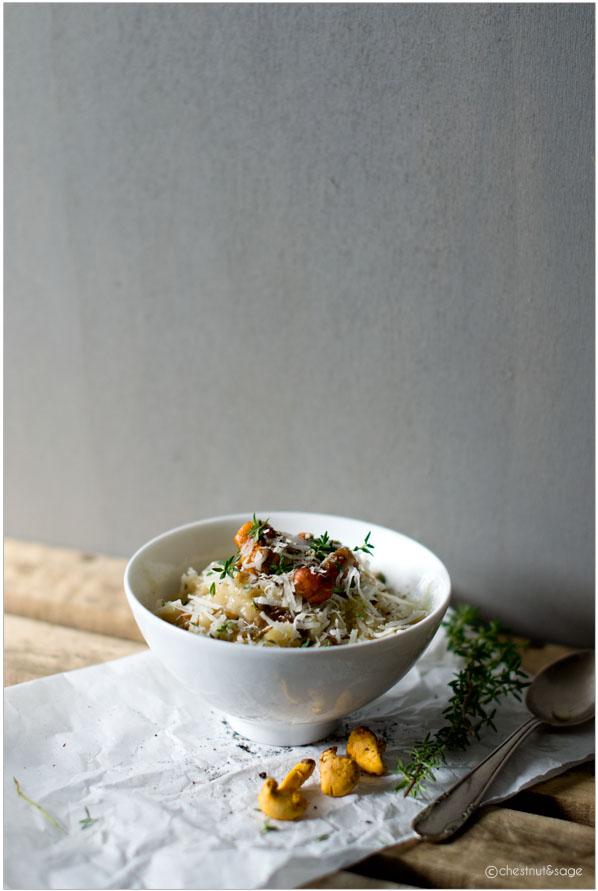 Mushroom risotto | chestnutandsage.de