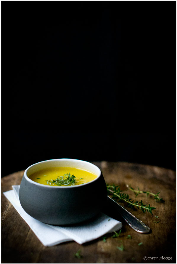 Garlic Pumpkin Soup | chestnutandsage.de