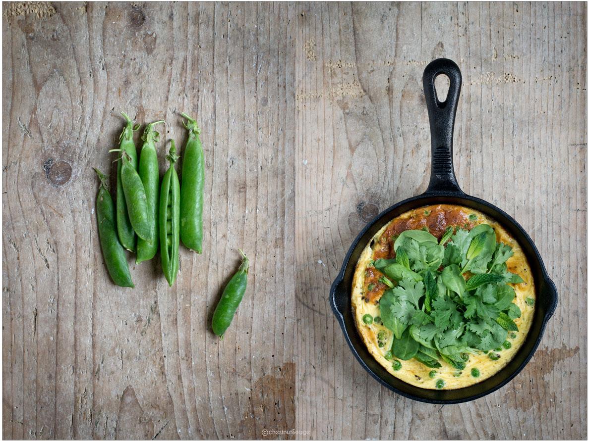 Frittata mit Erbsen und Ricotta | chestnutandsage.de