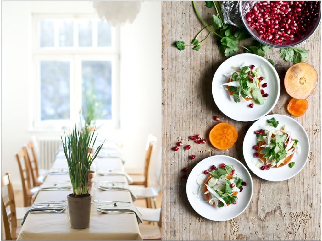 Persimmon-Salat GastFreude | chestnutandsage.de