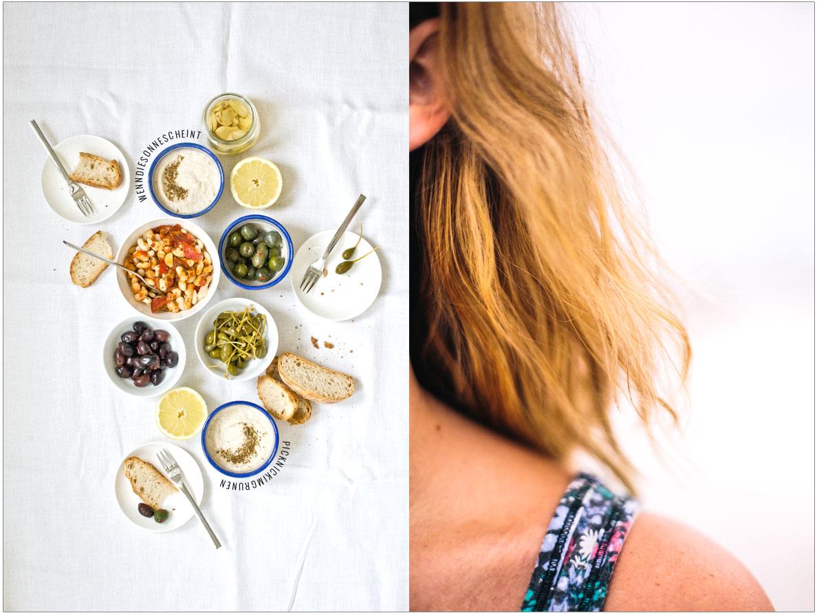 Bohnen-Salat und Hummus | chestnutandsage.de