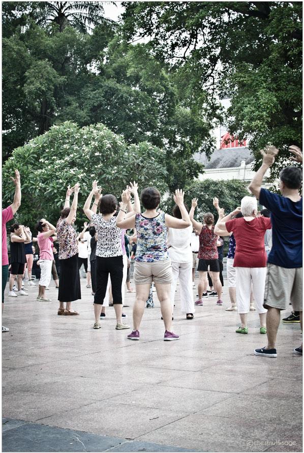 Fruehsport in Hanoi | chestnutandsage.de
