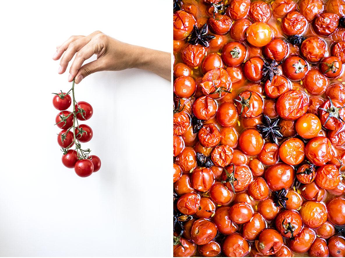Geschmorte Kirschtomaten | chestnutandsage.de