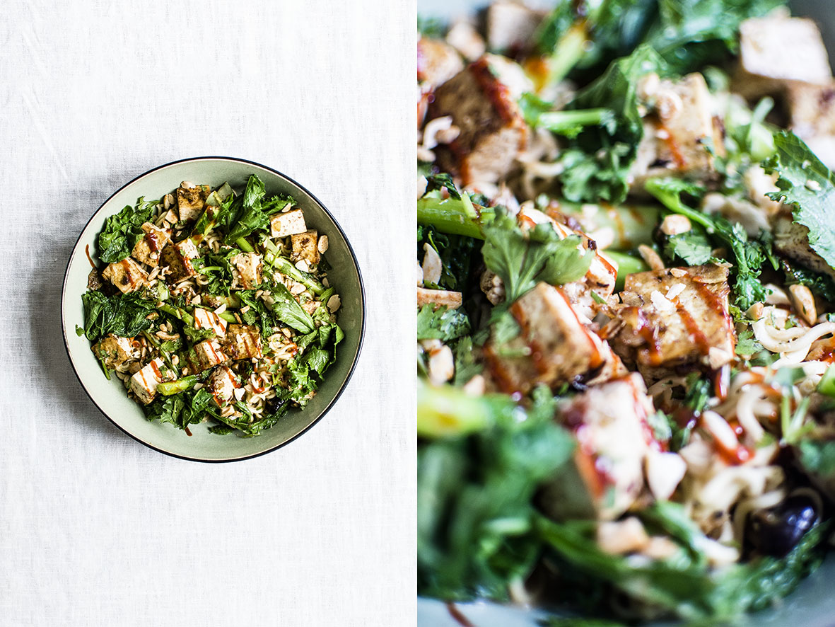 Mee-Nudeln mit Erdnuss-Tofu | chestnutandsage.de