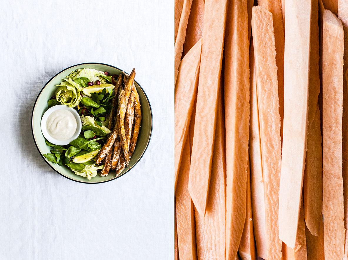 Zatar-spiced Süßkartoffel-Pommes | chestnutandsage.de