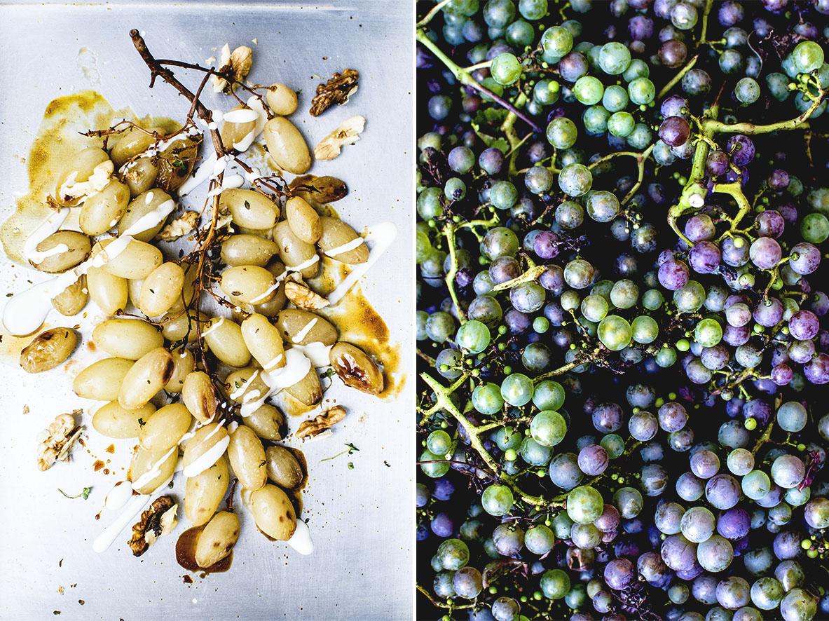Geschmorte Trauben mit Walnüssen und Rum | chestnutandsage.de