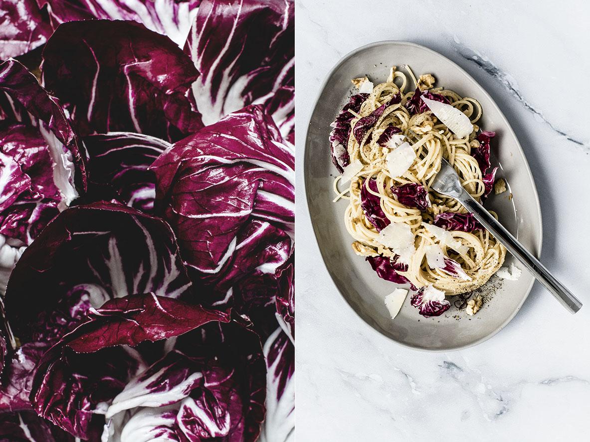 Pasta mit Walnusspesto und Radicchio | chestnutandsage.de
