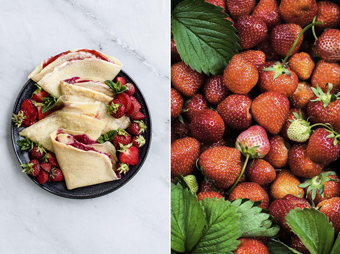 Pfannkuchen mit Erdbeeren | chestnutandsage.de